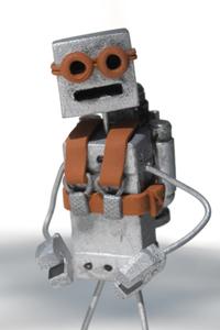 Retro Jetpack Robot